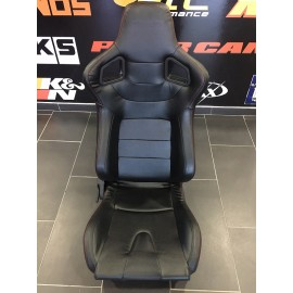 Pair os Bakcets PVC Leather with rear seat Open