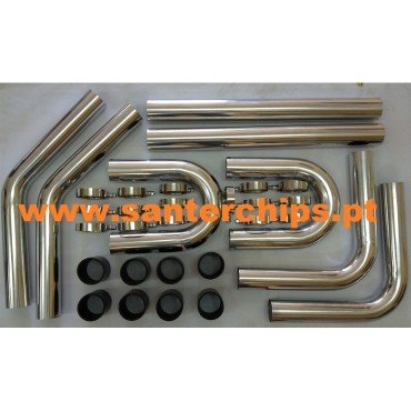Kit Intercooler Universal 63mm ALUMINIO