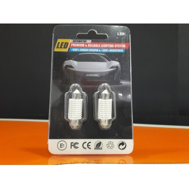 Pair of LED's 12v 39mm C5W 6SMD
