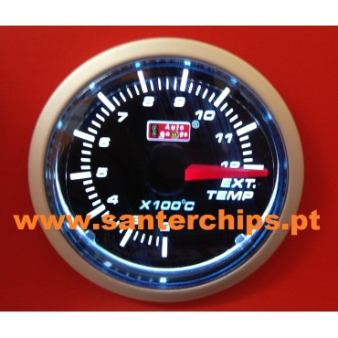Manometro de Temperatura de Gases de Escape AUTOGAUGE 52mm Stepper Motor Swiss Movement