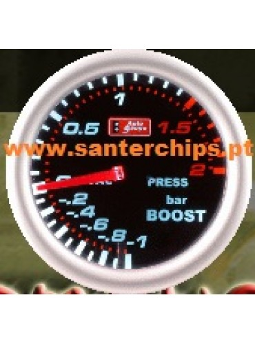 AUTOGAUGE BOOST Pressure 2BAR Gauge - SMOKE