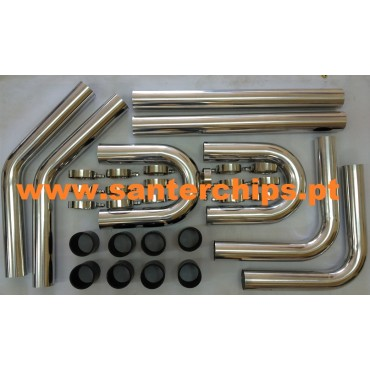 Kit Intercooler Universal 76mm ALUMINIO