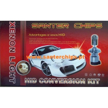 Kit Bi Xenon H4 6000k 35w SLIM Santerchips HID